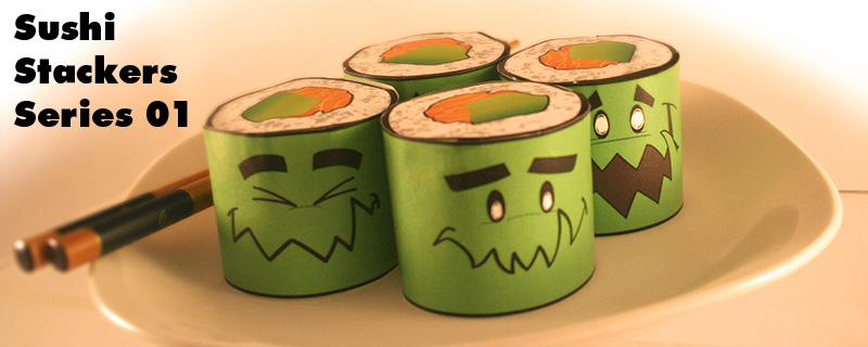 Sushi Stacker Paper Toy
